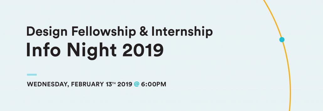Design Fellowship Internship Info Night 2019 Healthcare Human Factors